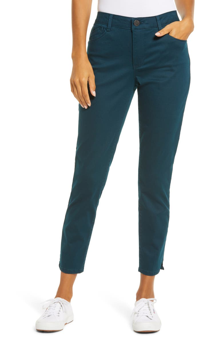 WIT & WISDOM Ab-Solution High Waist Ankle Skinny Pants, Main, color, DARK TEAL