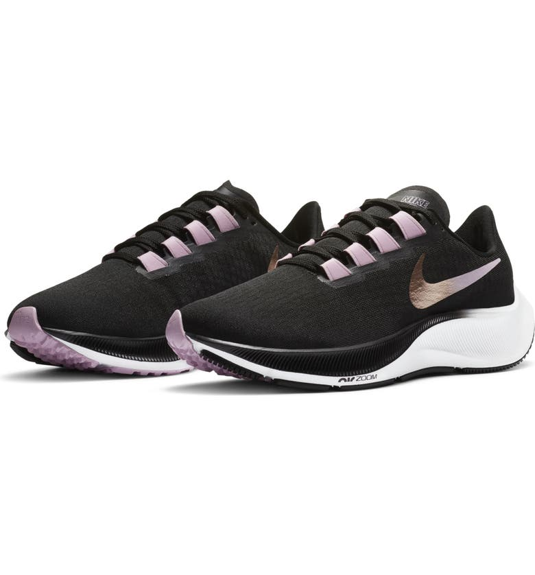 NIKE Air Zoom Pegasus 37 Running Shoe, Main, color, BLACK/ PINK/ WHITE/ RED BRONZE