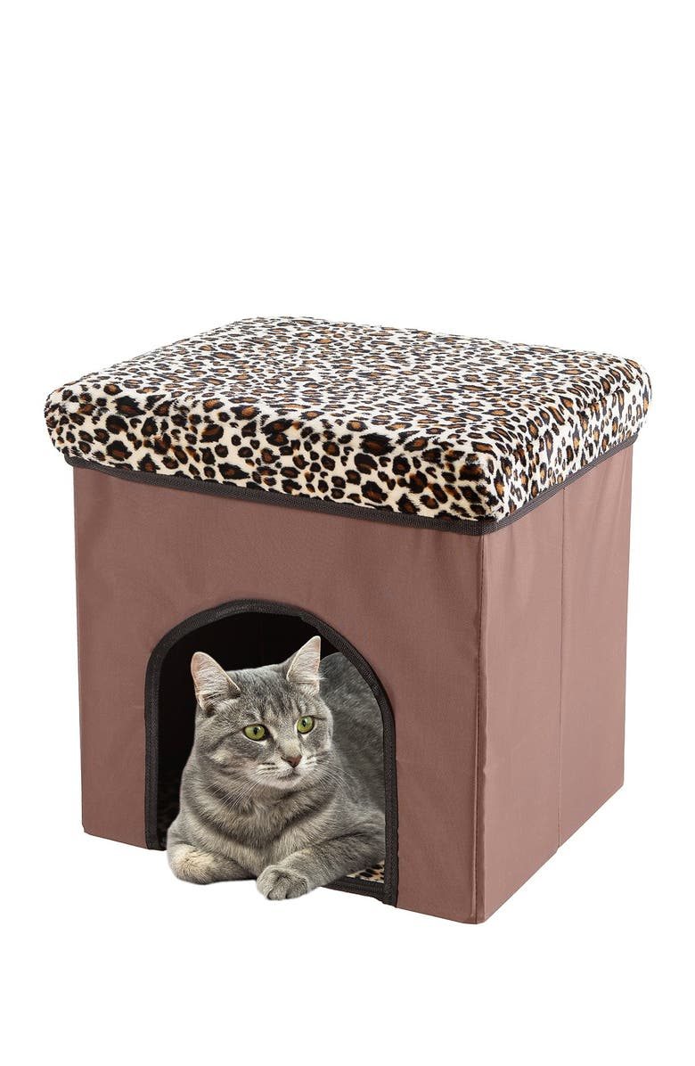 DUCK RIVER TEXTILE Brown Lila Pet House 3 In1 Animal Printing, Main, color, BROWN