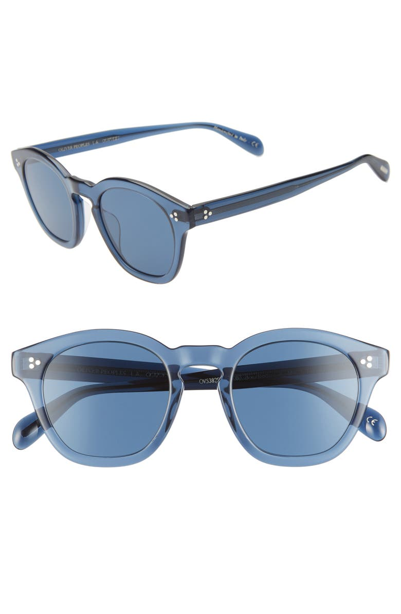 OLIVER PEOPLES Boudreau 48mm Round Sunglasses, Main, color, 400