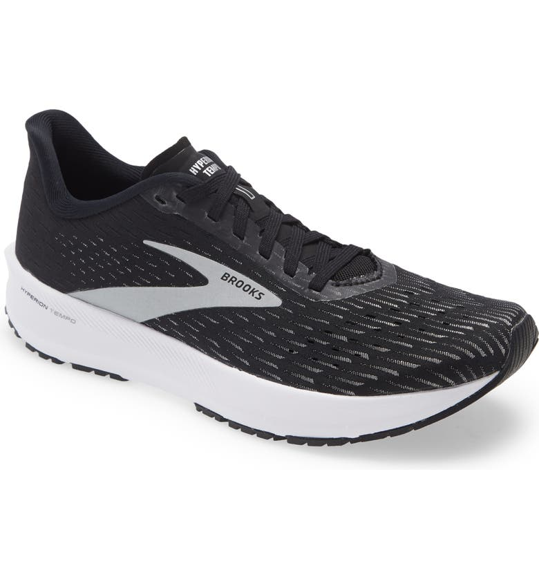 BROOKS Hyperion Tempo Running Shoe, Main, color, BLACK/ SILVER/ WHITE