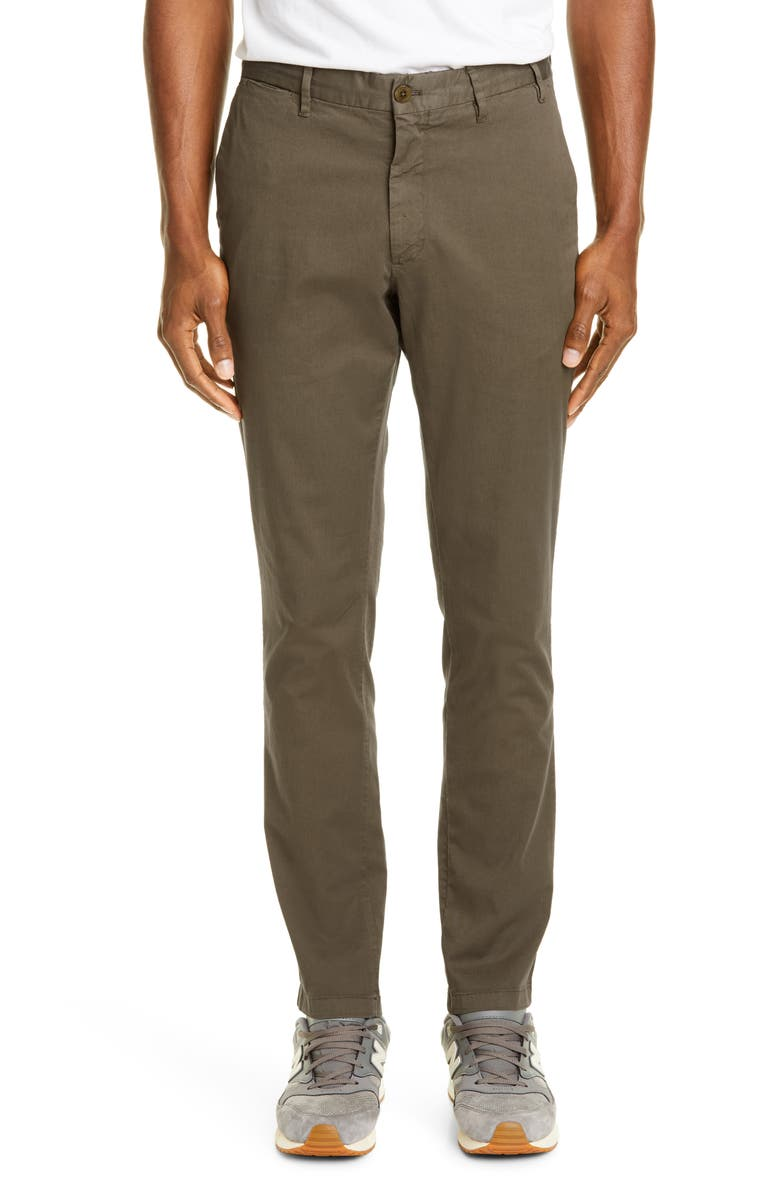 NORSE PROJECTS Aros Slim Fit Stretch Twill Pants, Main, color, IVY GREEN