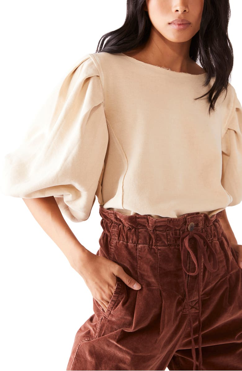 FREE PEOPLE Rosey Pleated Shirt, Main, color, 250
