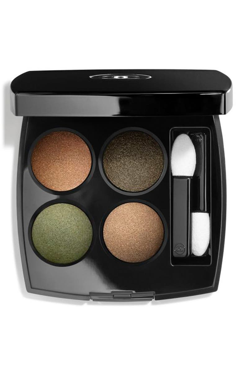 CHANEL LES 4 OMBRES <br />Multi-Effect Quadra Eyeshadow, Main, color, 318 BLURRY GREEN
