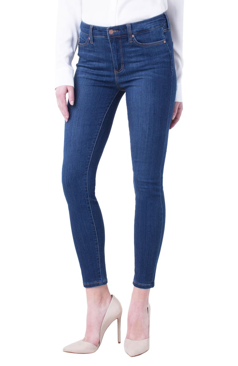 LIVERPOOL Abby Ankle Skinny Jeans, Main, color, ELYSIAN DARK