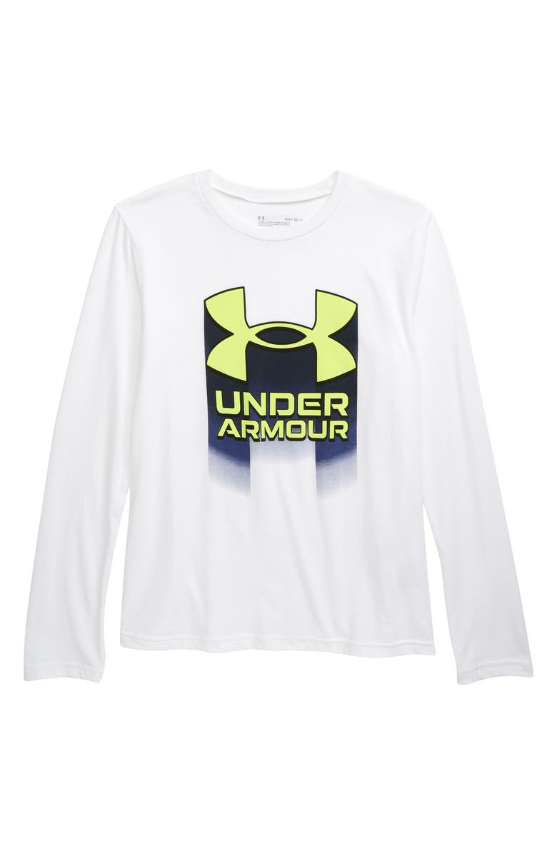 UNDER ARMOUR Live Logo Performance Graphic Tee, Main, color, 100