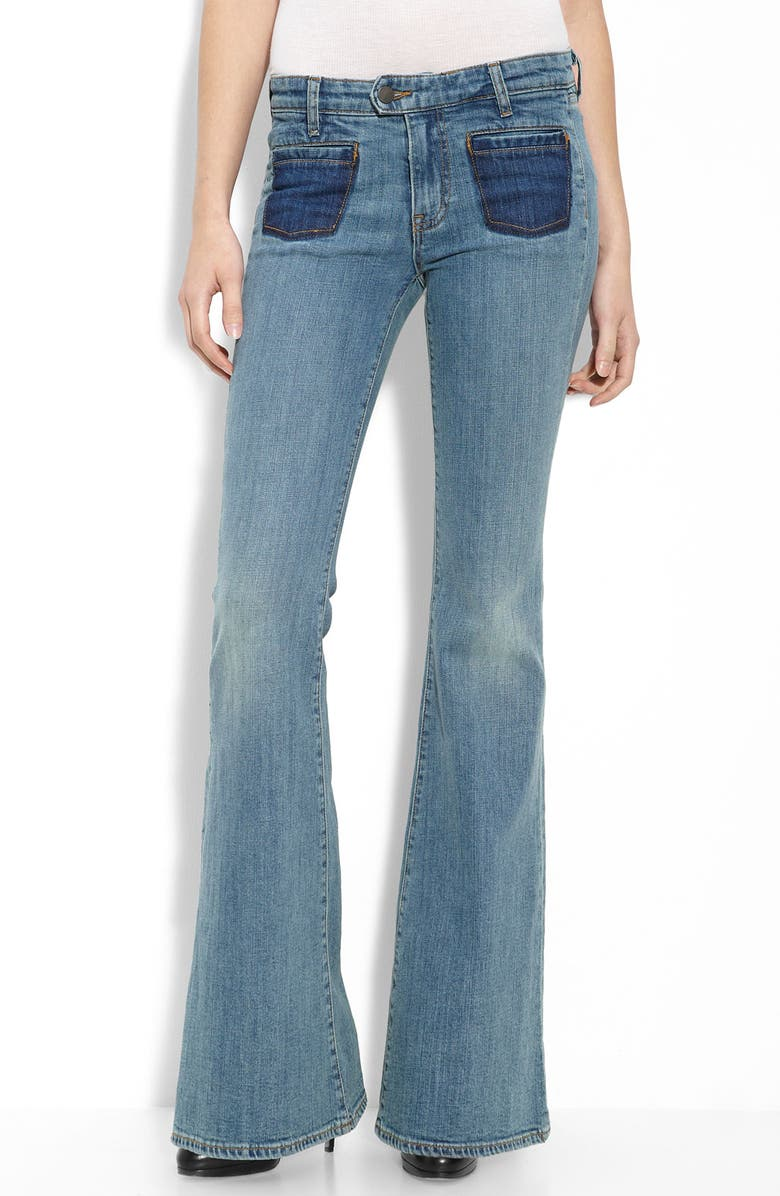 GENETIC 'Adriane' Bellbottom Stretch Jeans, Main, color, 405