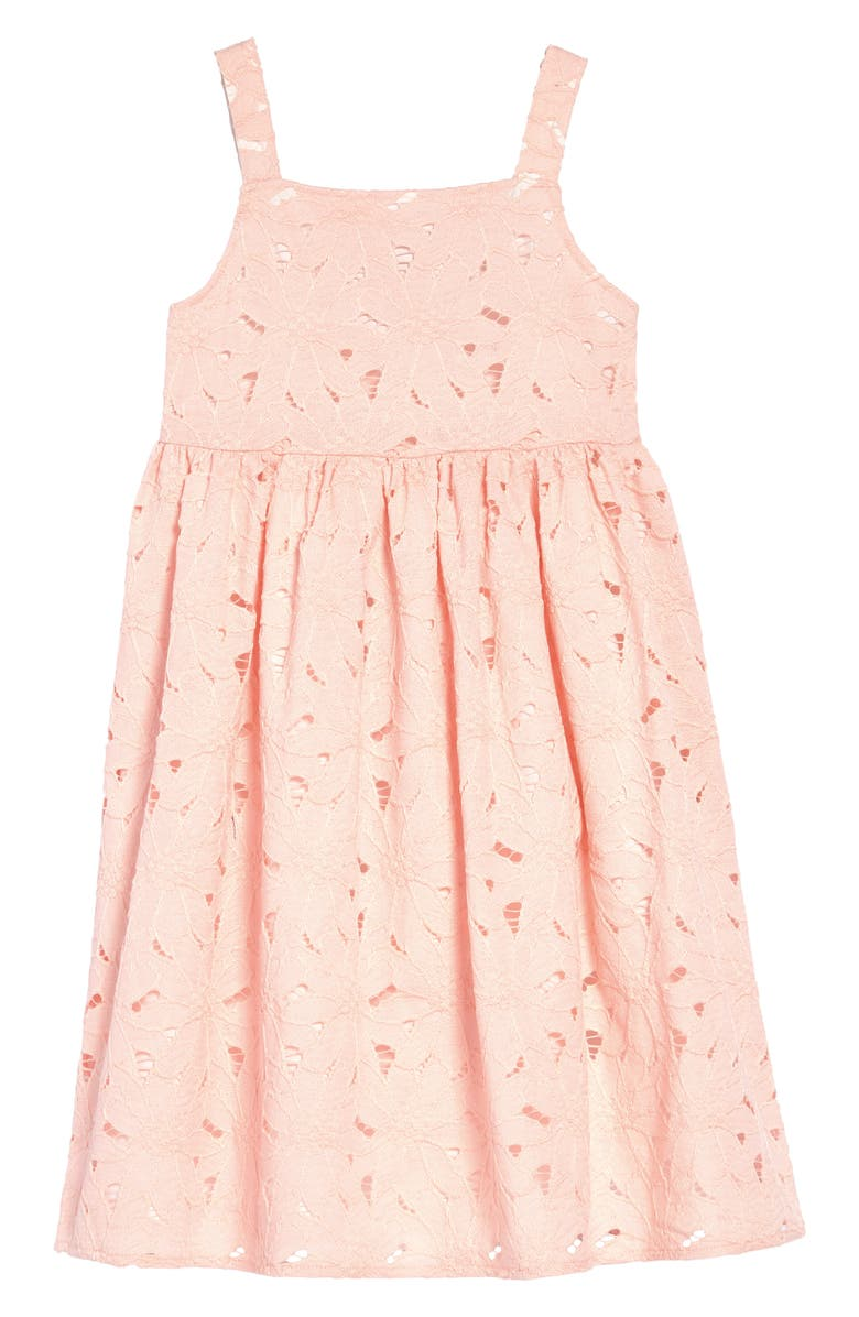 NORDSTROM Lace Dress, Main, color, PINK CHINTZ