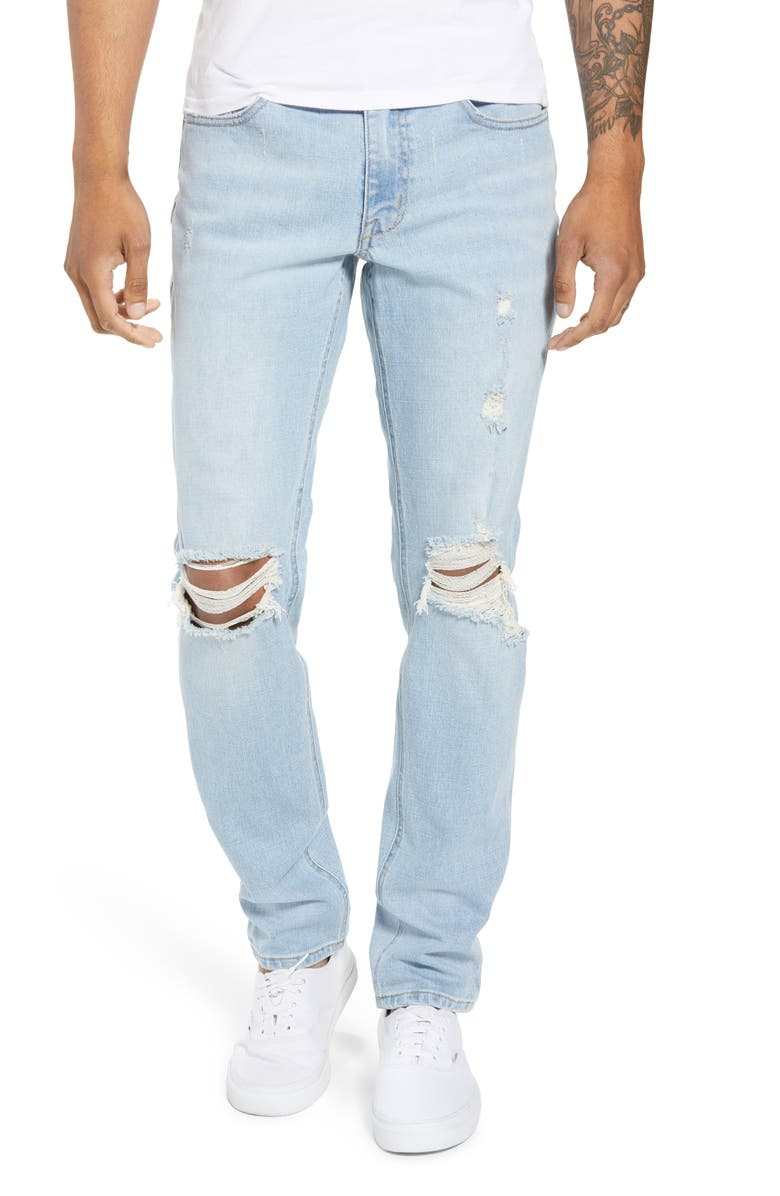 THE RAIL Ripped Skinny Fit Jeans, Main, color, 420