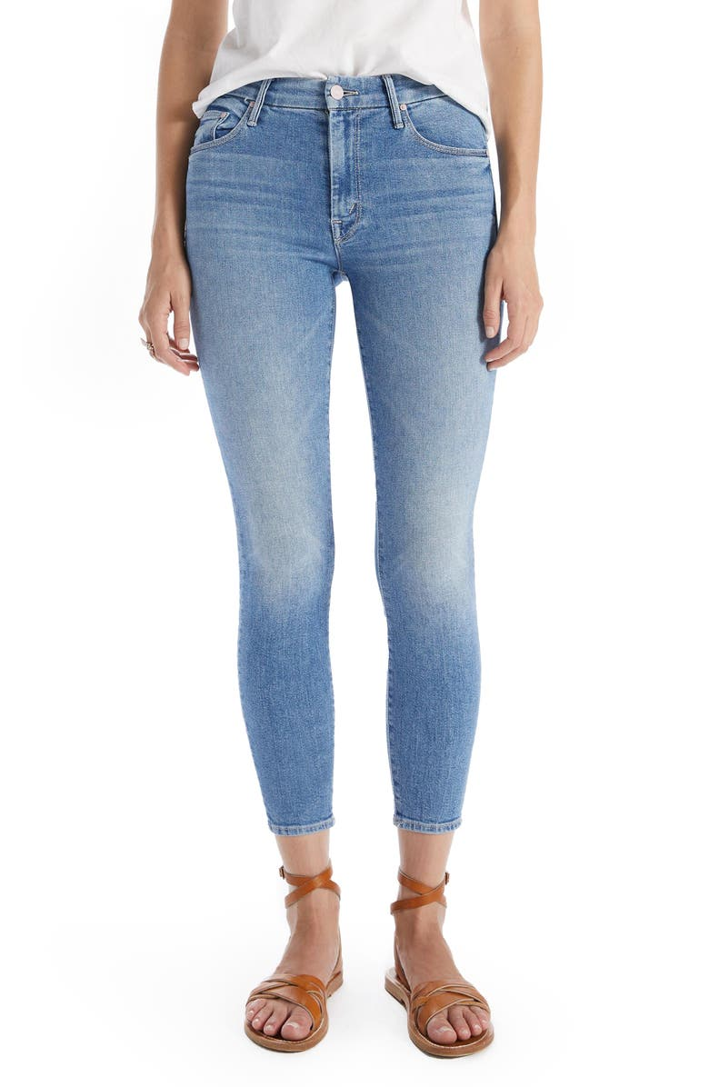 MOTHER The Looker High Waist Ankle Skinny Jeans, Main, color, INDEPENDENT STUDIES