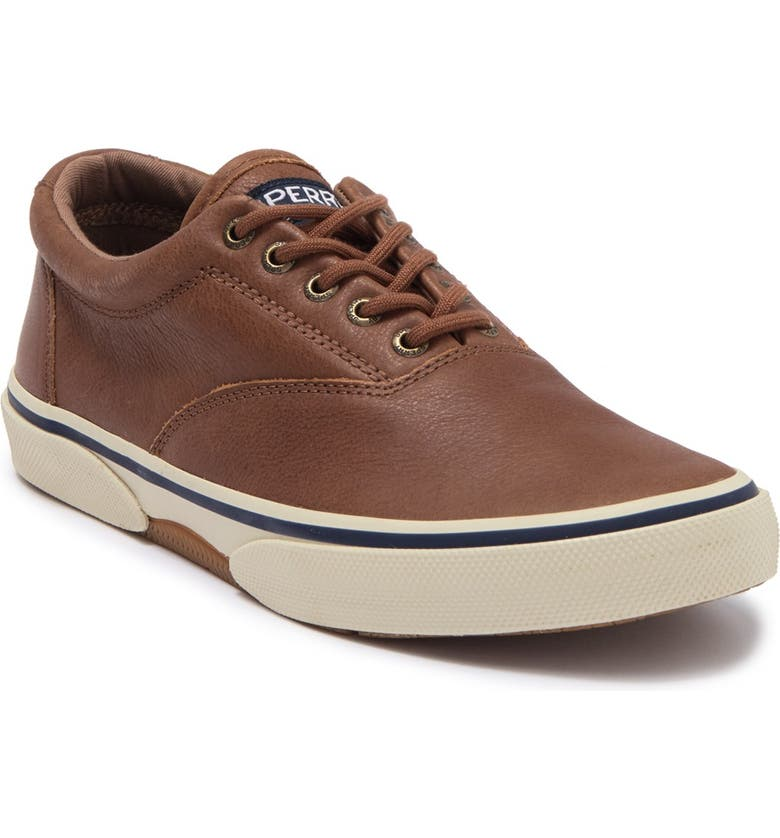 SPERRY Halyard CVO Leather Sneaker, Main, color, TAN