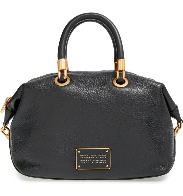 MARC JACOBS MARC BY MARC JACOBS 'New Too Hot to Handle' Leather Satchel, Main, color, 001