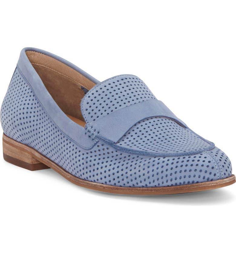 CC CORSO COMO<SUP>®</SUP> Carlynee Loafer, Main, color, STONEWASH PERFORATED NUBUCK
