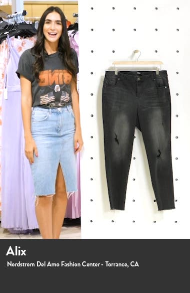 High Waist Destructed Ankle Jeans, sales video thumbnail