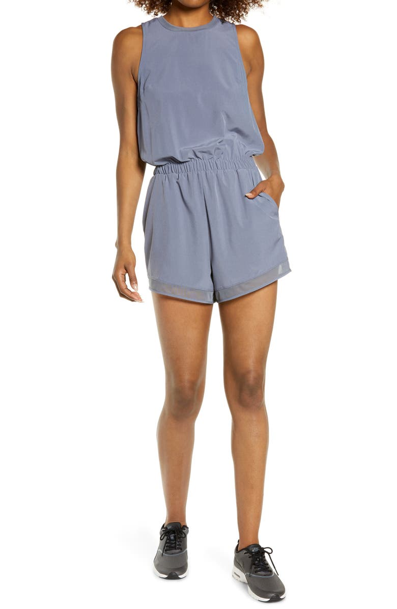 ZELLA Getaway Sleeveless Romper, Main, color, GREY FOLKSTONE