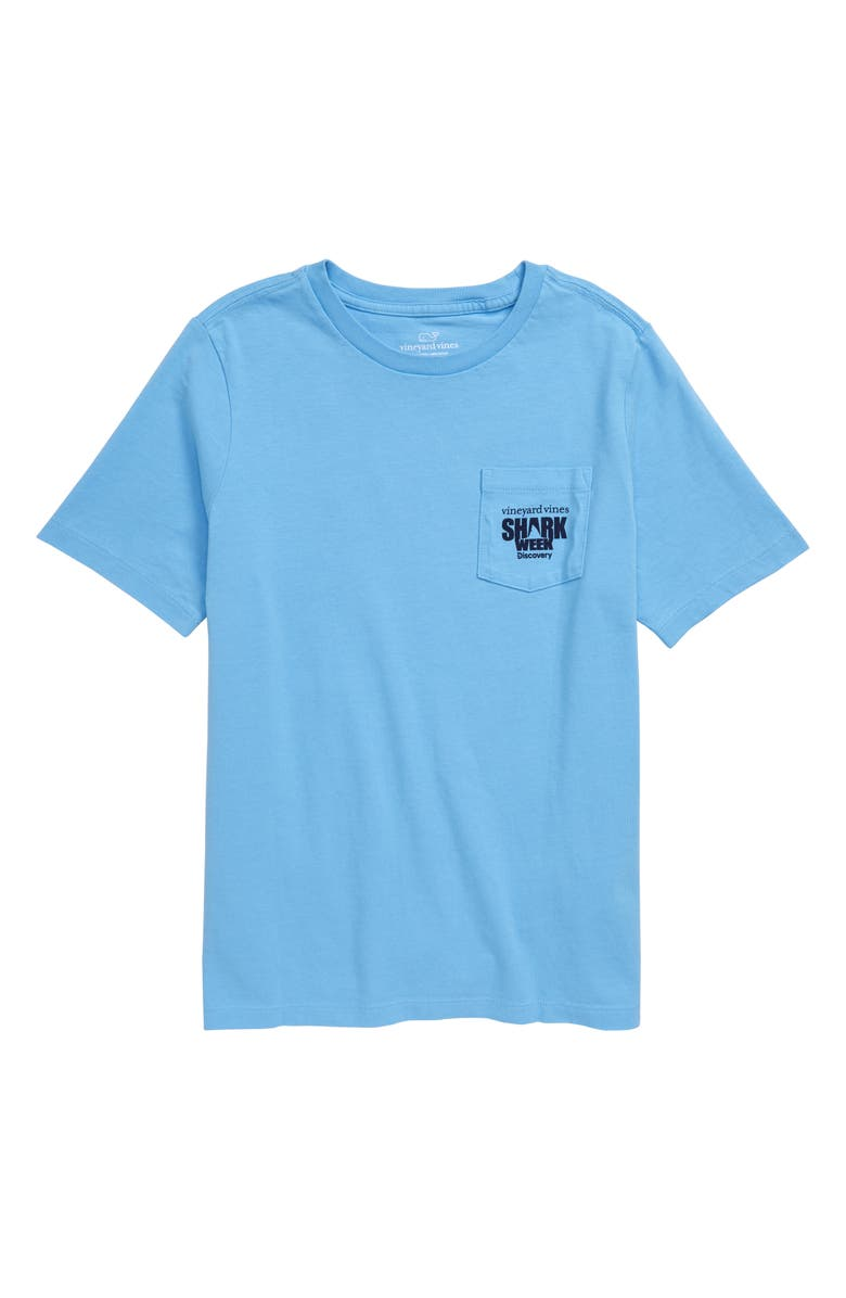 VINEYARD VINES x Shark Week<sup>™</sup> Camo Shark Whale Pocket T-Shirt, Main, color, 404