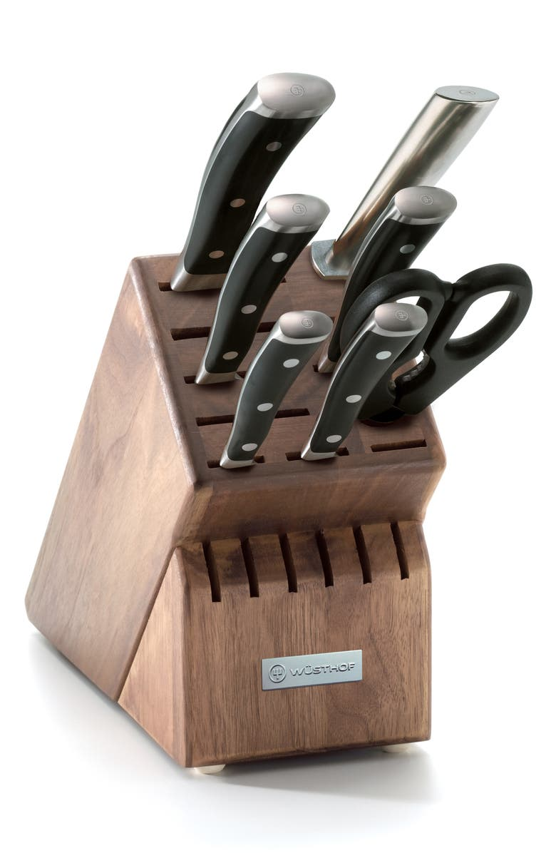 WÜSTHOF Classic Ikon 8-Piece Knife Block Set, Main, color, 001