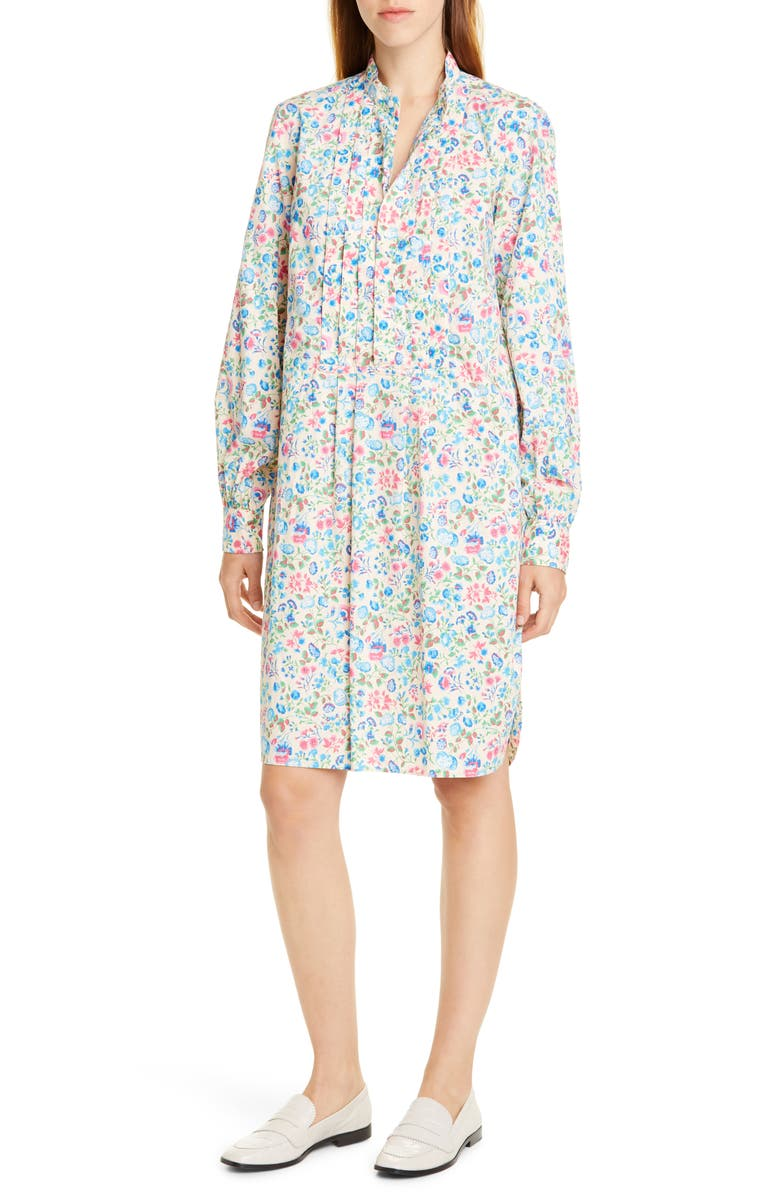 POLO RALPH LAUREN Siena Long Sleeve Floral Shirtdress, Main, color, 400