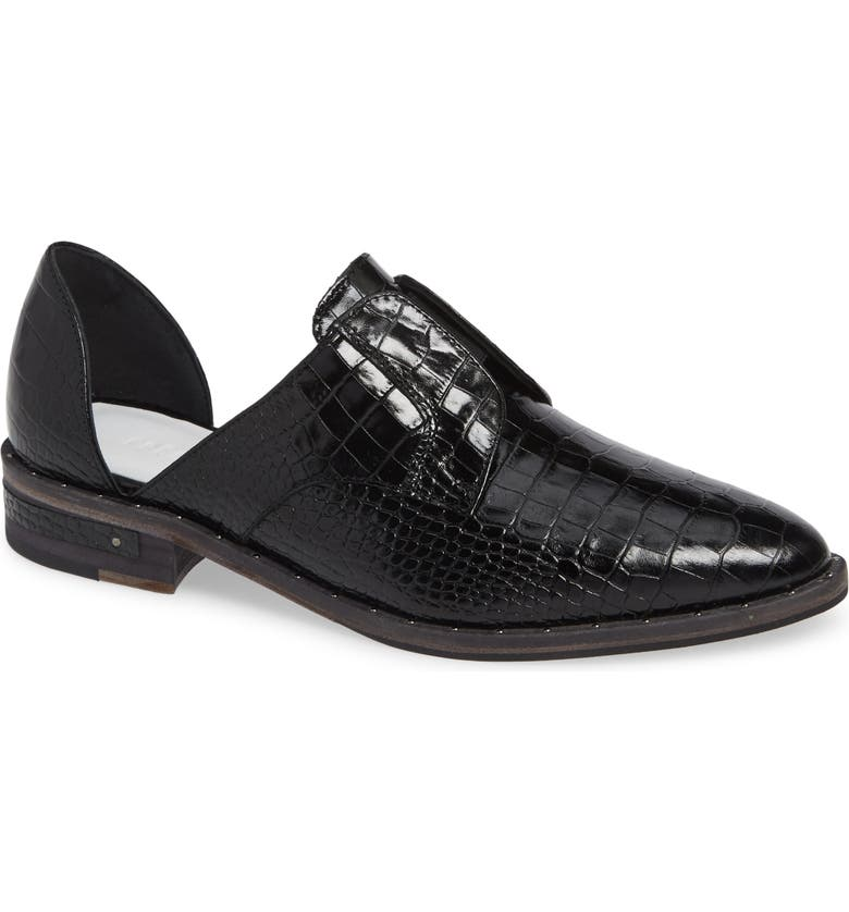 FREDA SALVADOR Wear Leather d'Orsay Laceless Derby, Main, color, 001
