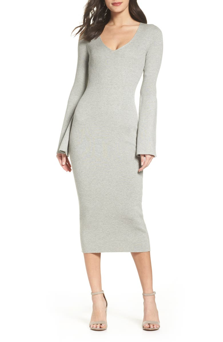 FRENCH CONNECTION Virgie Knit Midi Dress, Main, color, 050