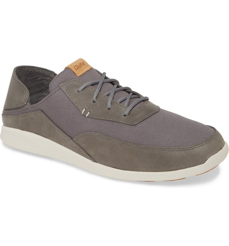 OLUKAI Kihi Sneaker, Main, color, CHARCOAL FABRIC