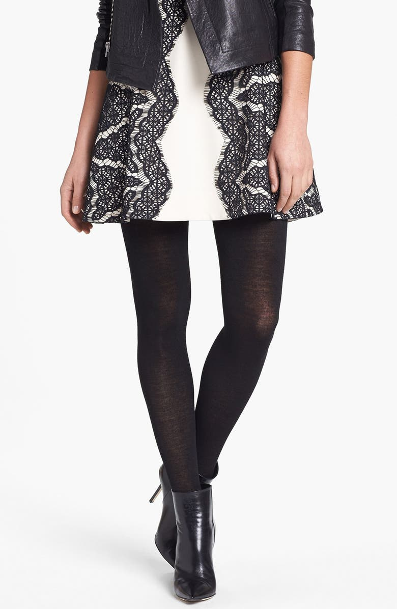 NORDSTROM Halogen<sup>®</sup> Sweater Tights, Main, color, Black