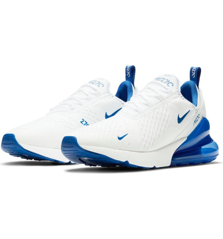 NIKE Air<sup>®</sup> Max 270 Sneaker, Main, color, WHITE/ RACER BLUE/ GAME ROYAL