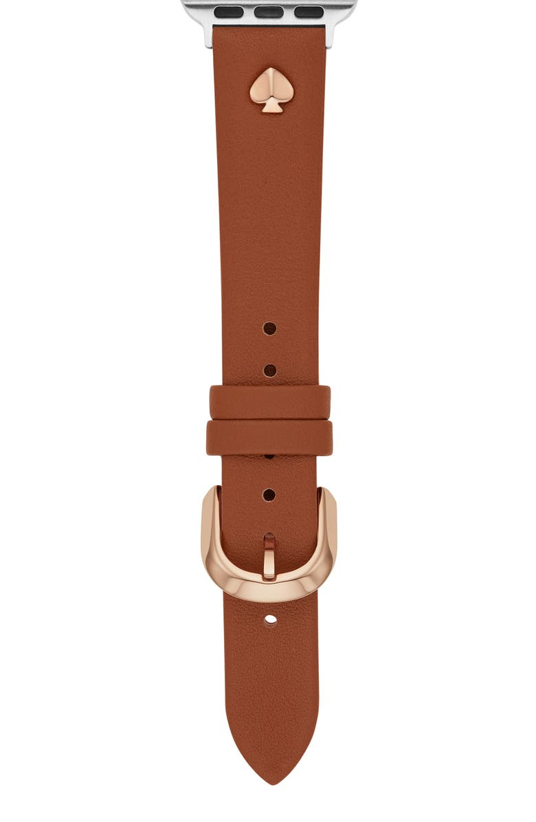 KATE SPADE NEW YORK leather Apple Watch<sup>®</sup> strap, Main, color, TAN