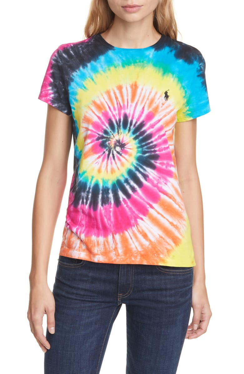 POLO RALPH LAUREN Tie Dye Tee, Main, color, 200
