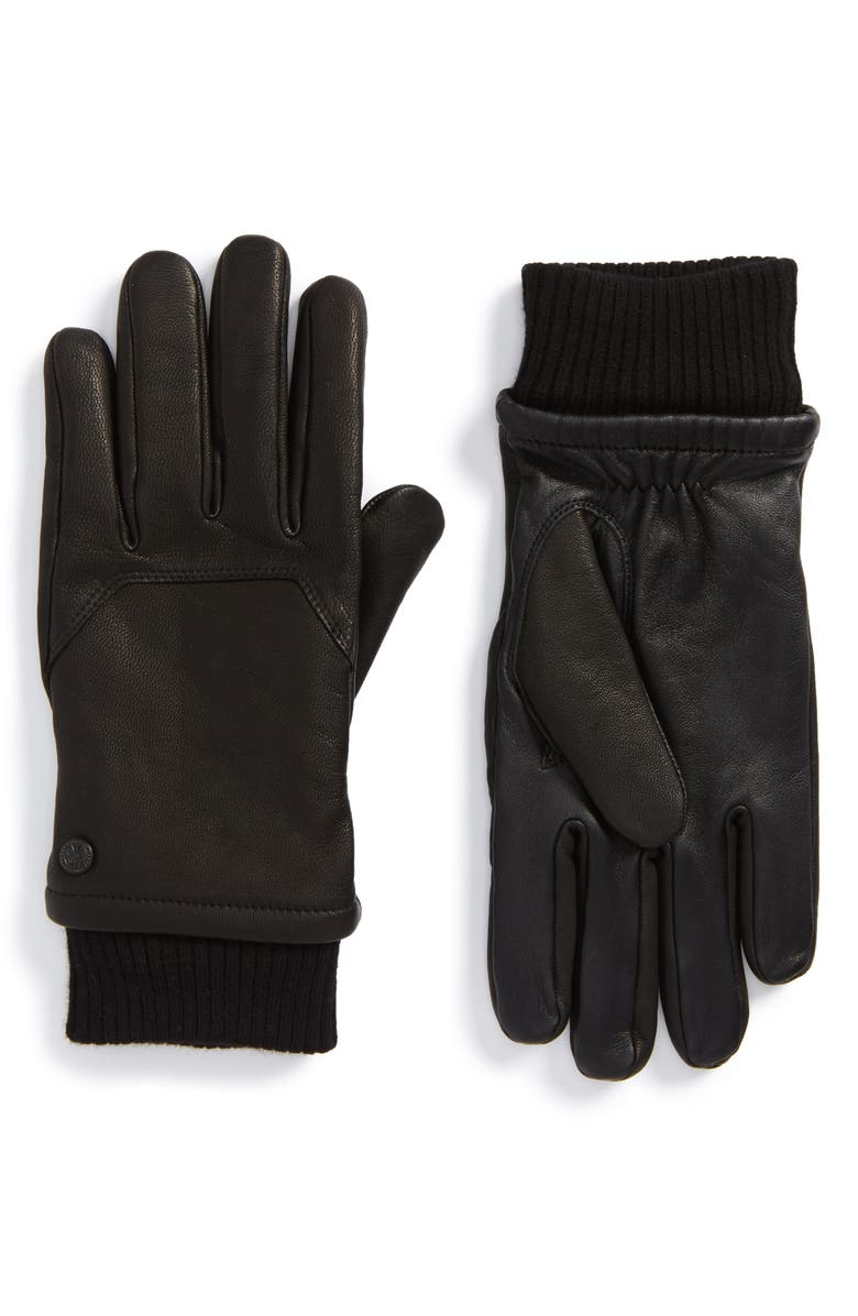 CANADA GOOSE Workman Gloves, Main, color, BLACK