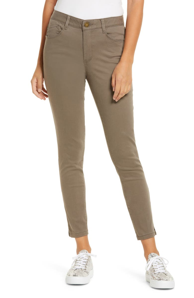 WIT & WISDOM Ab-Solution High Waist Ankle Skinny Pants, Main, color, BROL-BRINDLE OLIVE