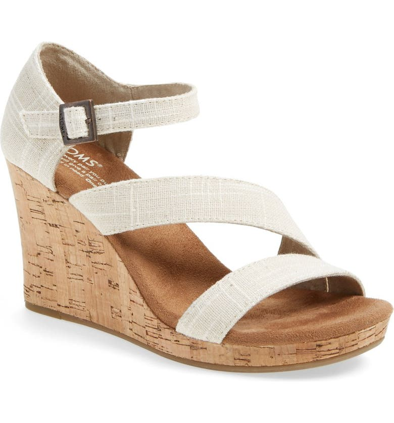 TOMS 'Clarissa' Wedge Sandal, Main, color, 251