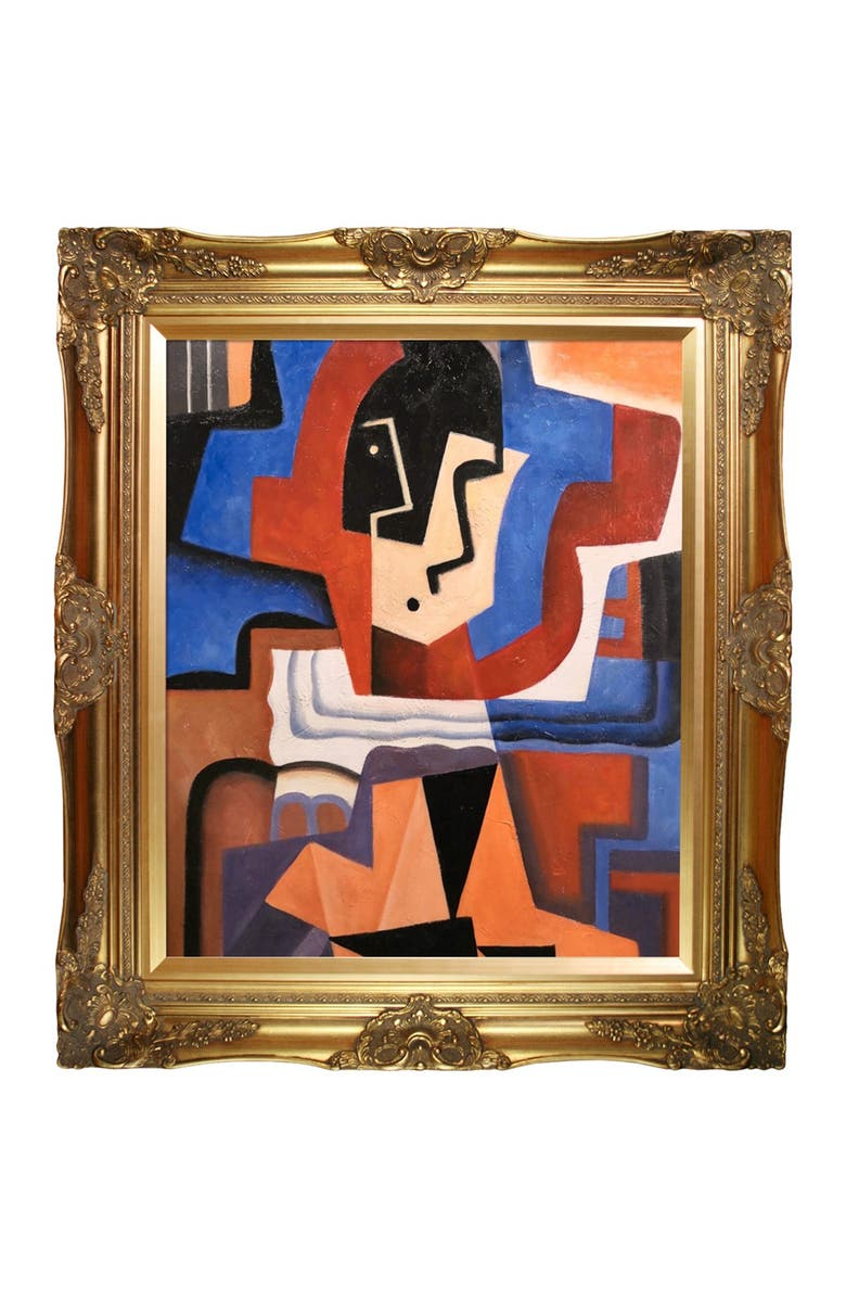 OVERSTOCK ART Harlequin - Framed Oil Reproduction of an Original Painting by Juan Gris, Main, color, MULTI