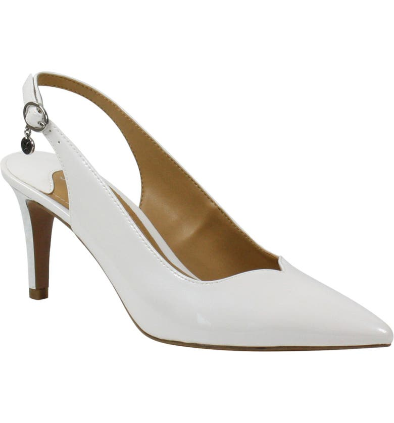 J. RENEÉ J. Renée Belamie Slingback Pump, Main, color, WHITE FAUX PATENT LEATHER