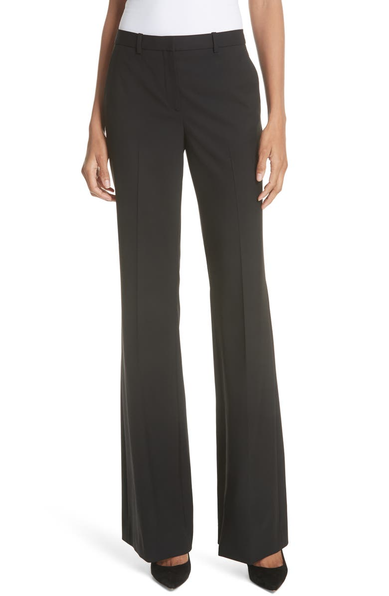 THEORY Demitria 2 Stretch Good Wool Suit Pants, Main, color, Black