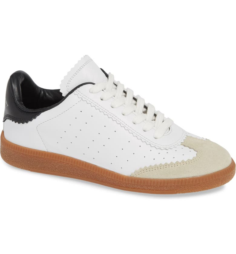 ISABEL MARANT Bryce Logo Sneaker, Main, color, WHITE