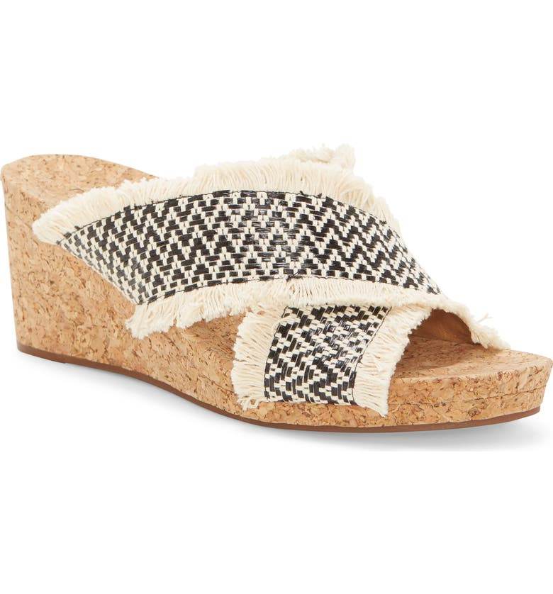 LUCKY BRAND Khillian Woven Wedge Slide Sandal, Main, color, 001