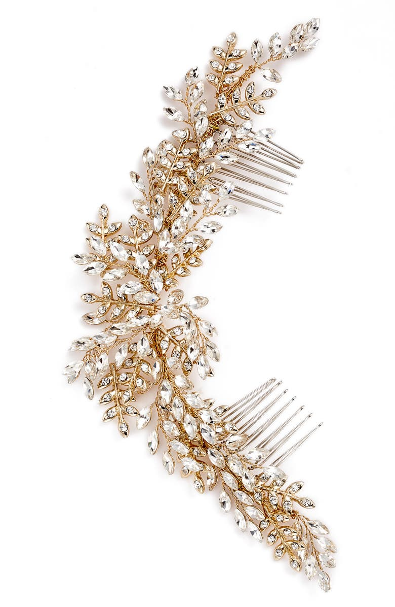 BRIDES & HAIRPINS Serena Crystal Hair Comb, Main, color, 710