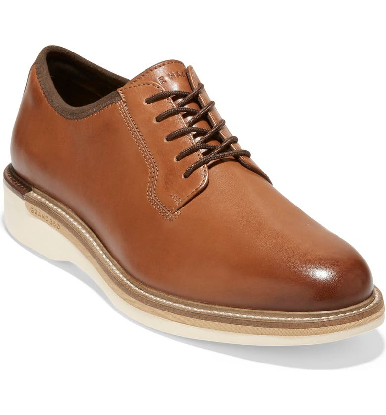 COLE HAAN Grand Ambitiou Postman Leather Oxford, Main, color, BRITISH TAN