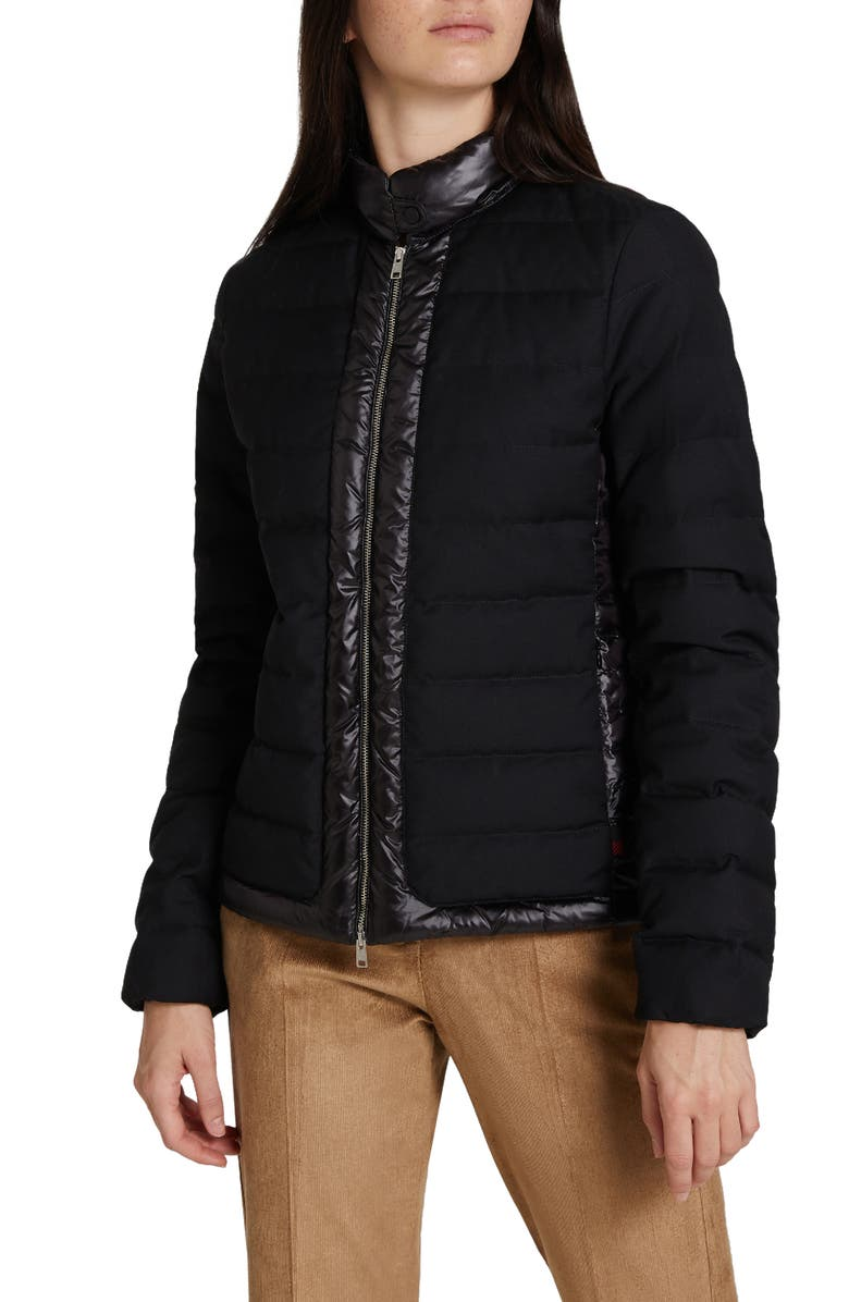 WOOLRICH Luxe Clover Water Resistant Jacket, Main, color, Black