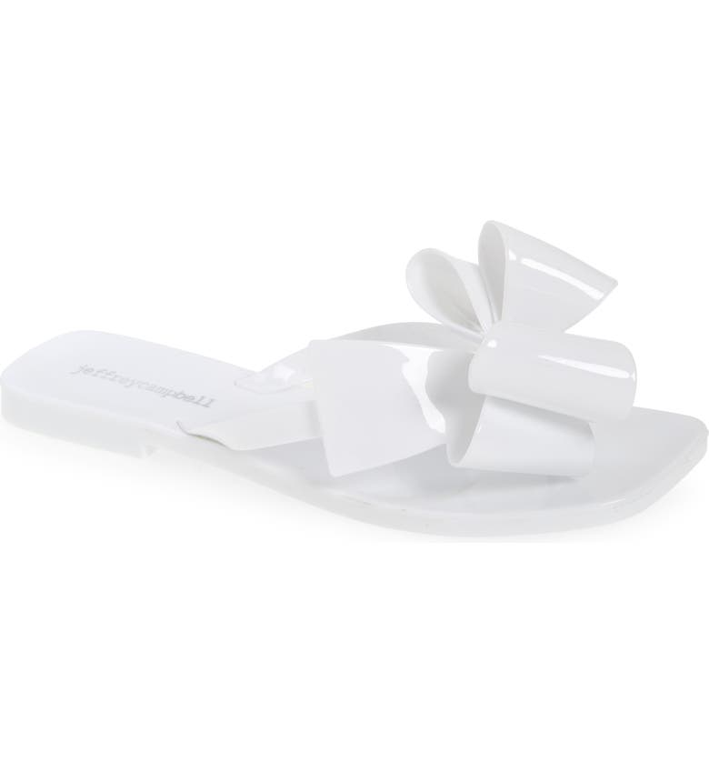 JEFFREY CAMPBELL Sugary Flip Flop, Main, color, WHITE SHINY