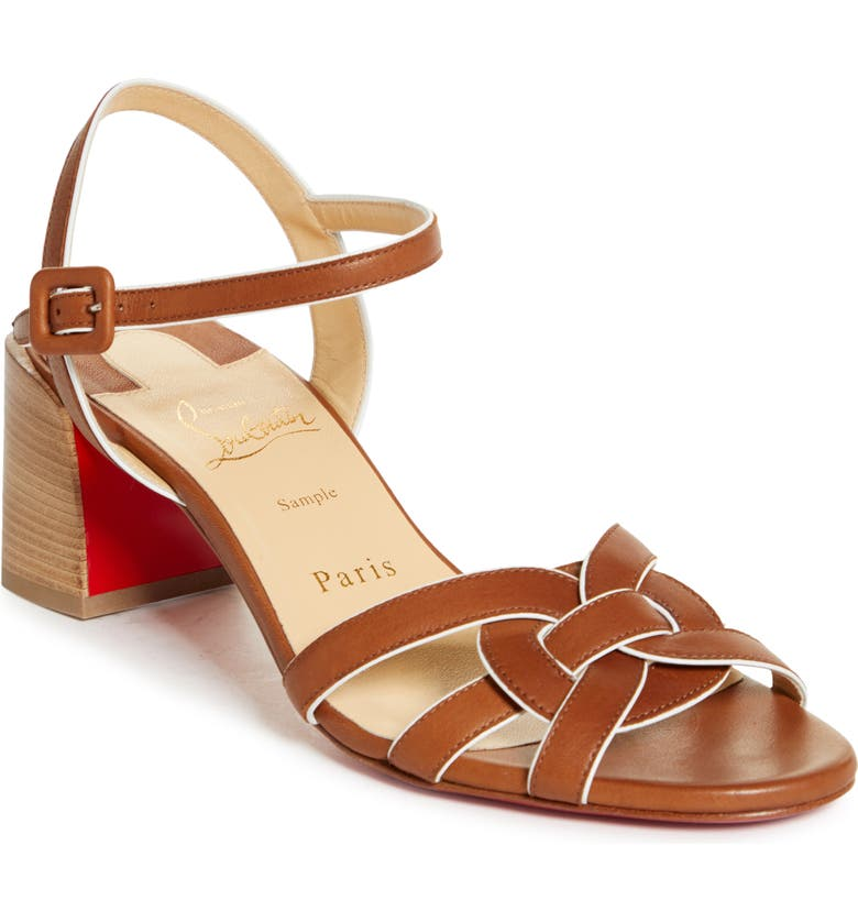 CHRISTIAN LOUBOUTIN Anjalili Sandal, Main, color, LIGHT CUIR/ BEIGE LUC