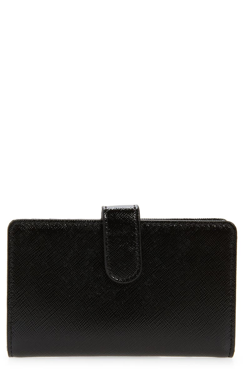 NORDSTROM Kelly Leather Wallet, Main, color, 001