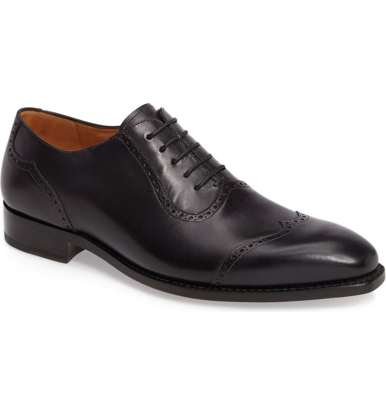 IMPRONTA BY MEZLAN G119 Wingtip, Main, color, BLACK