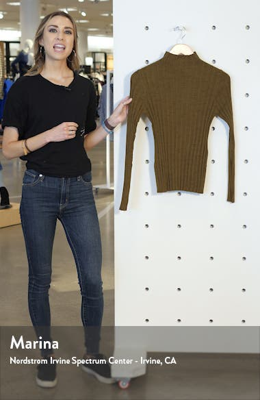 Marled Ribbed Funnel Neck Sweater, sales video thumbnail