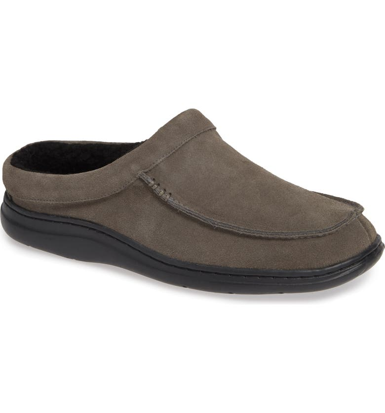 L.B. EVANS 'Edmonton' Slipper, Main, color, GREY LEATHER