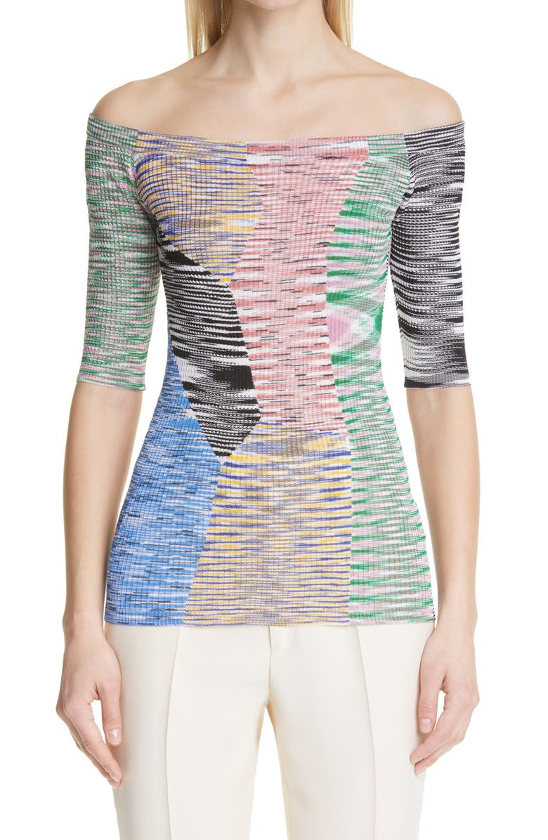 MISSONI Off the Shoulder Knit Top, Main, color, MULTI