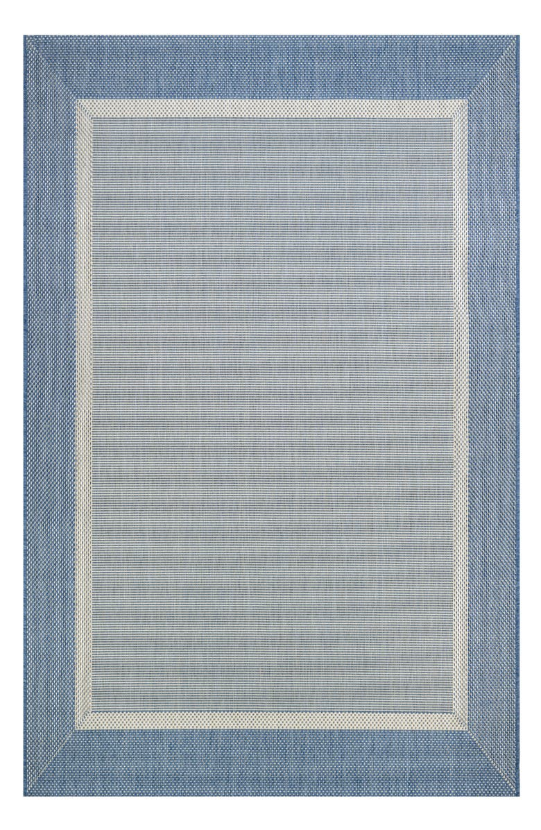 COURISTAN Stria Texture Indoor/Outdoor Rug, Main, color, CHAMPAGNE/ BLUE