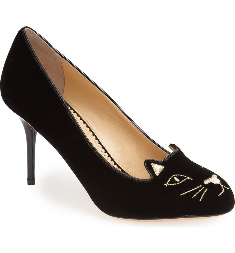 CHARLOTTE OLYMPIA 'Kitty' Pump, Main, color, 001