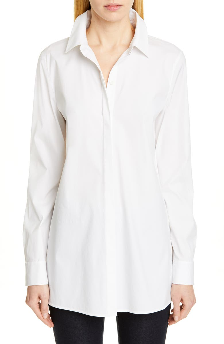 LAFAYETTE 148 NEW YORK Minnie Shirt, Main, color, 100